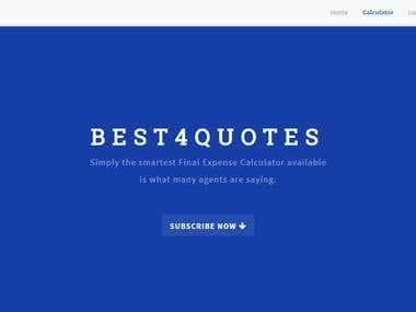 Best4quotes Website Development