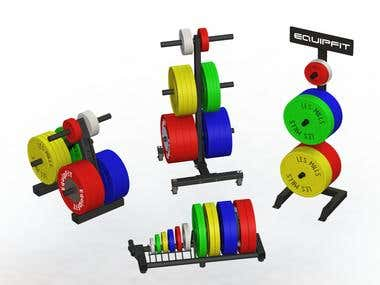 Weight Disk Storage Racks