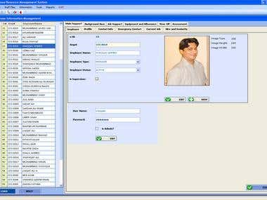 HR Management System Admin Control