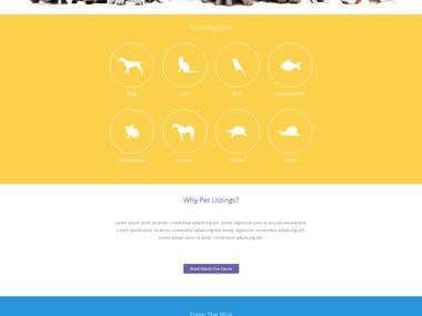 Osclass Pet listing theme development.