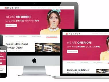 Onerion PSD to HTML Design