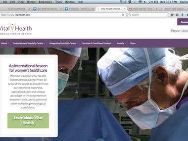 Website Created using Wordpress Vitalhealth
