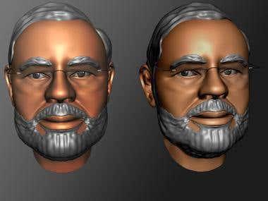 3D printable model of Indian PM Narendra Modi