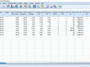A SPSS and EXCEL Project