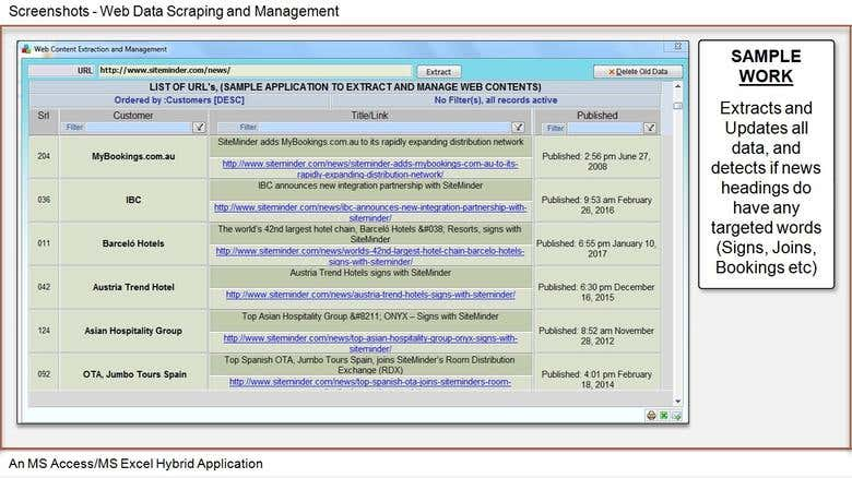 Web Data Scraping and Management Tool | Freelancer