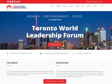 SEO & Concept for Toronto World Leadership Forum