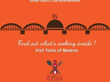 Taste of Madras -- Event Branding Poster