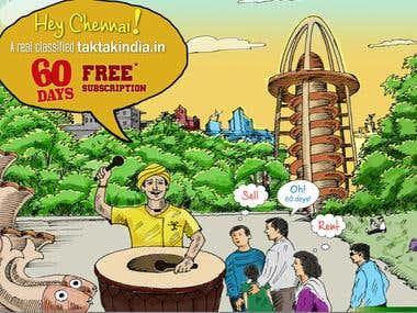 Taktakindia.in -- Real-estate branding poster