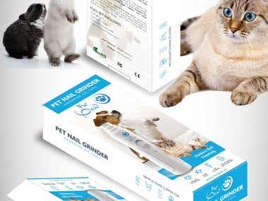 Product package designs for PET NAIL GRINDER/CLIPPERS