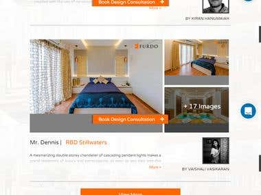 Ecommerce website for Interior design