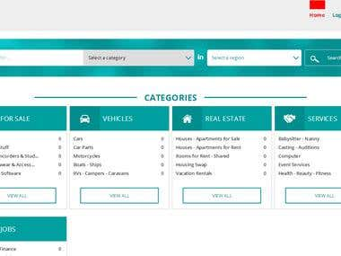 classifyad site development.