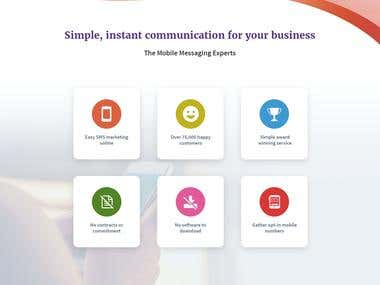 Landing Page Design for a SMS company