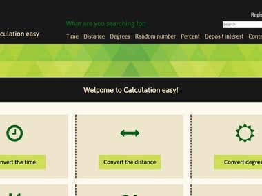 Calculation website