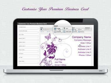 Visitng Card Designer, http://bcard.wv.to/html/editor.php
