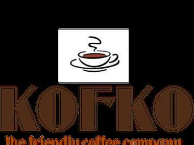 LOGO SAMPLE FOR KOFKO COFFEE COMPANY