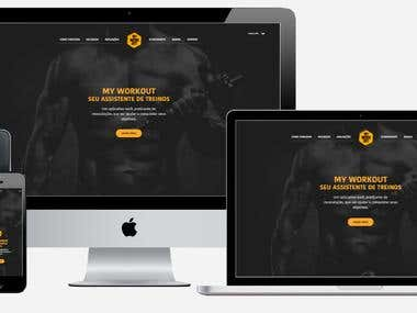 My Workout Landing page design