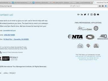 Wordpress Website ITMITourTranning