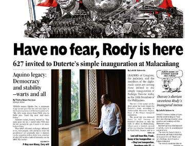 Front-page layout