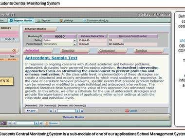 Students Central Monitoring System