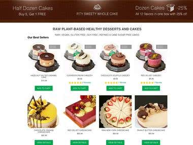FitySweety - Online Store for Cakes