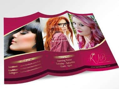 "Menu Design ""KUB Salon"""