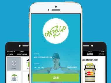 Onthegosports App Design