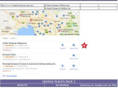 Google Map Pack-3 Local Listing Ranking