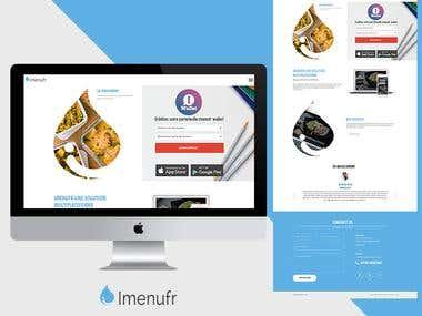 Imenufr Website Design