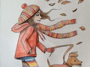 Example of children's book Character design