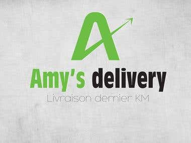 Amy's Delivery Logo Design