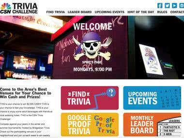 CSN Bridgetown Trivia Website