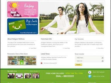 Religare Wellness Website Theme Designing