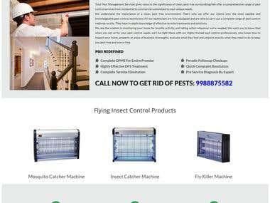 Total Pest Control (Wordpress Website)