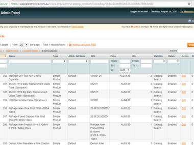 Magento 9.1 Product Upload/Listing
