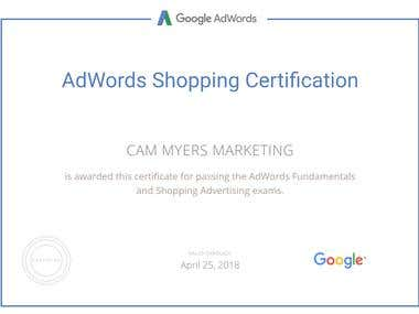 Google Shopping Advertising Certification