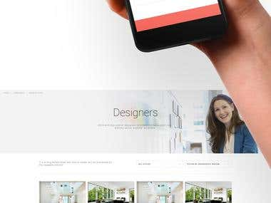 Website Design - Interior concept