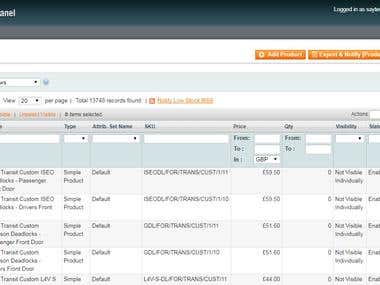 Magento Product Upload