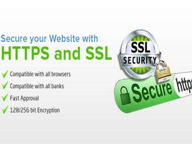 SSL installation for making website secure.