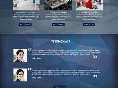 Parallex one page website