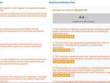 Online rating system