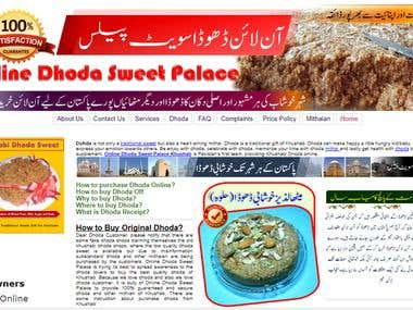 Content Writing and Online Dhoda Sweet Palace Web Preview