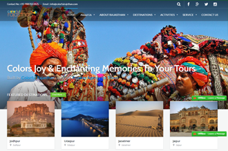 Tour and travel dynamic website