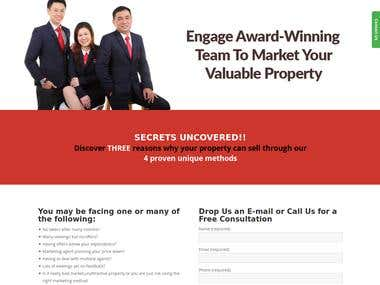 Singapore Property Dealer Portfolio Site