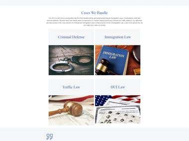 Promo Website for lawyers with blog from psd to app