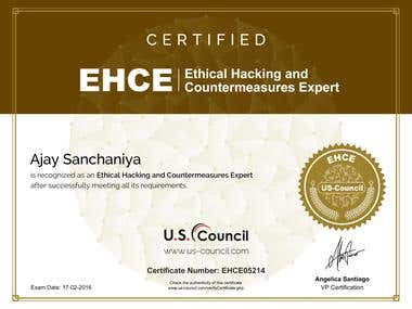 Ethical Hacking & Countermeasures Expert (EHCE) Certificate