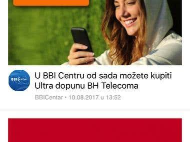 iOS application for BBICentar