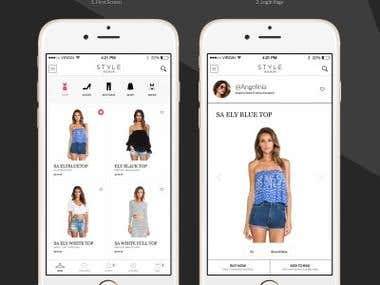 iPhone ecommerce mobile application