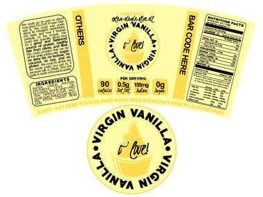 """Virgin Vanilla"" Ice Cream Packaging"