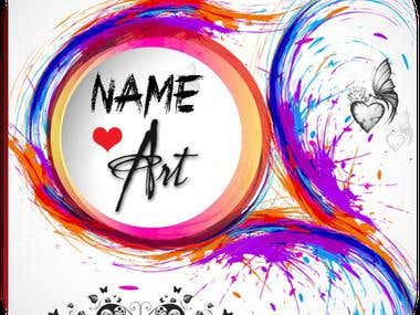 Stylish Name Art