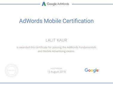 Google Mobile Ads Certification